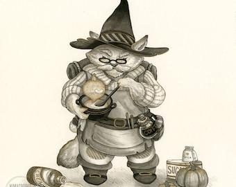 Pumpkin Latte Brewmaster - Original Painting