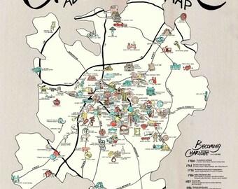 Charlotte Adventure Map // POSTER