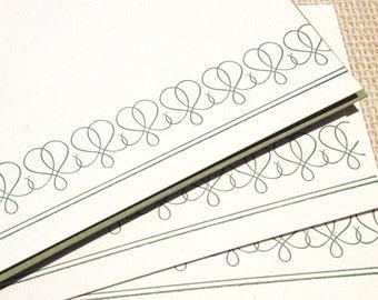 Letterpress Flat Card Set - Decorative Flourish No.06