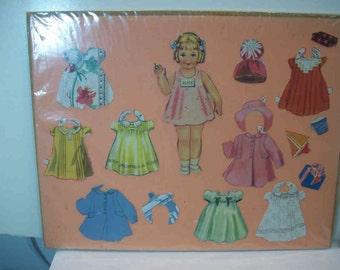 Vintage - Alice - from Happy Birthday paper dolls Merrill #3466 1939