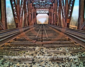 Train Bridge Over Thames River - Fine Art Photograph