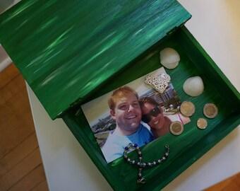 Emerald Lush Wooden Travel Box