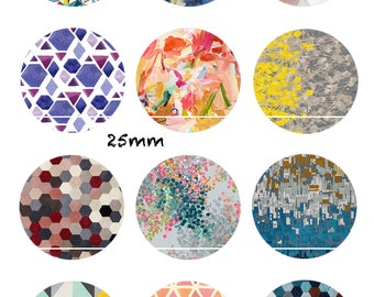 CT344 Pastel and Vintage 12 Images/designs/collage/Scrapbooking digital 30/25/20/18/16/15/14/12/10/8 mm cabochon round/square/oval