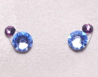 Pale Blue & Wine Eye Candies ATS Tribal Fusion Bindi - 00125