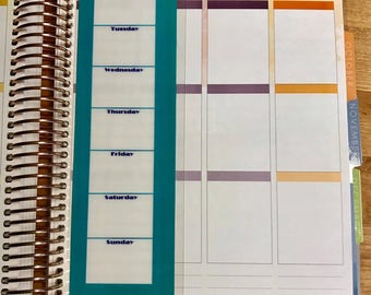 DASHBOARD (SHORT) - Weekly Daily To Do List Notes for use with Erin Condren OR Happy Planner