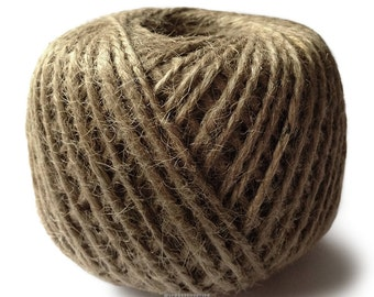 250 Ft Roll of Jute Twine - Natural Packaging, Tying Gifts, Natural Crafts
