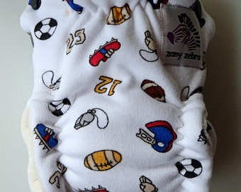 Fitted Cloth Diaper - Extra Small - Play Ball