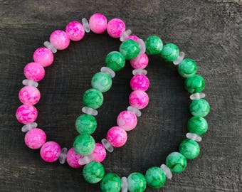 SALE Glass bead bracelet