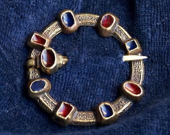 Fibula Europe 13-15 century Barette Pin for scarf or shawl medieval jewelry  Fibula medieval brooch