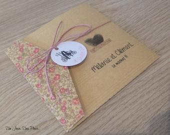 Retro chic wedding invitation