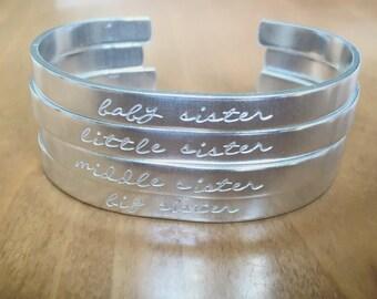 Sister bangles...cuff bracelet...