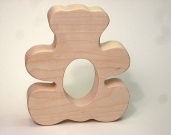 Wooden Teether, Teddy Bear Teether Toy, Wooden Teddy Bear Teether, Teddy Bear Wood Teether, Teething Baby Toy, Teething Toy, Teether