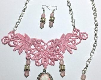 "Jewelry Set ""Gothic Pink"""