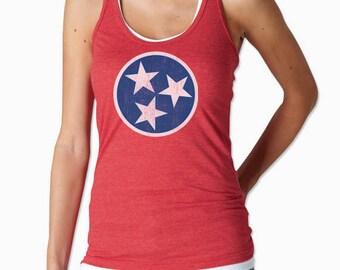 Women's Tennessee Tristar Flag Shirt | Tennessee Tristar Racerback Tank Top