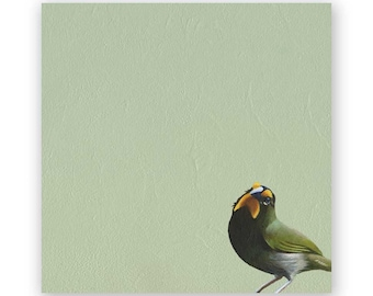 SALE! Yellow-Faced Grassquit - 8 x 8 Wings on Wood Decor