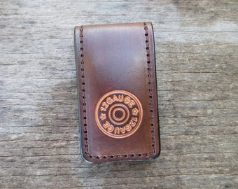 Money clip with 12 Gauge Shell