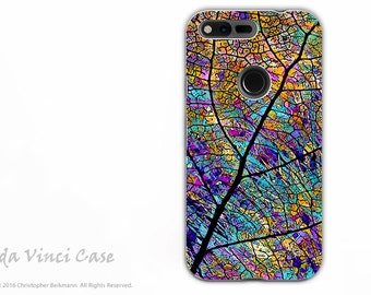 Colorful Aspen Leaf - Artistic Google Pixel Tough Case - Dual Layer Protection - Stained Aspen