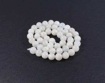 5 Moonstone beads natural 6mm LBP00392