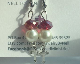 Ruby red and pearls
