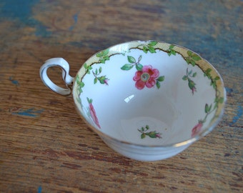 Antique Aynsley China Teacup with Pink Roses and Gold - Orphan Tea Cup ONLY