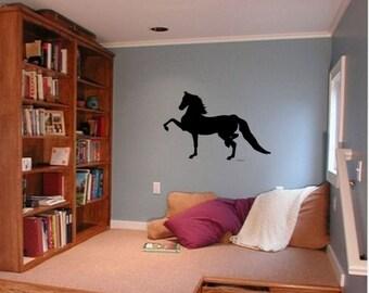 Horse decal-Morgan-horse sticker-horse vinyl wall decor-Big 42 X 28 inch sticker, 257-HS
