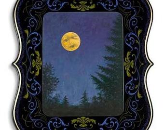 Moon Maiden - Poster - Sign painting, fileteado, landscape, Duke Ellington