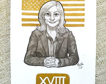 Inktober 2017 Original Art - [18] Lesley Knope from Parks and Recreation