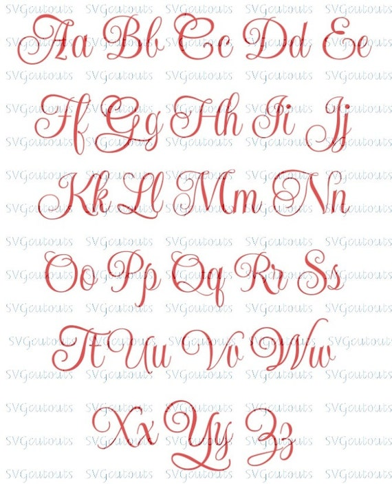 Elegant Script Monogram Heart Frame Font Design, SVG, Eps