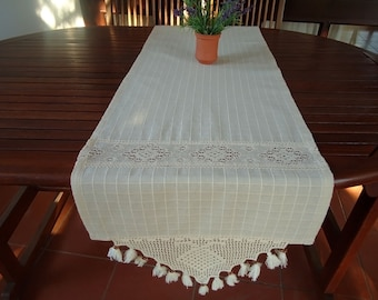 Grey red short table runner coffee table runner dresser runner runner cotton table runner crochet table runner kitchen table runner linen runner dining table runner cottage workwithnaturefo