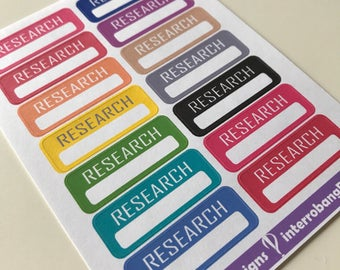 A46 - Research Planner Stickers