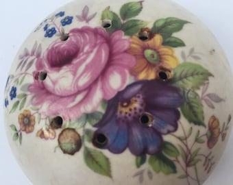 SALE! Vintage Ceramic Flower Pomander Collectible
