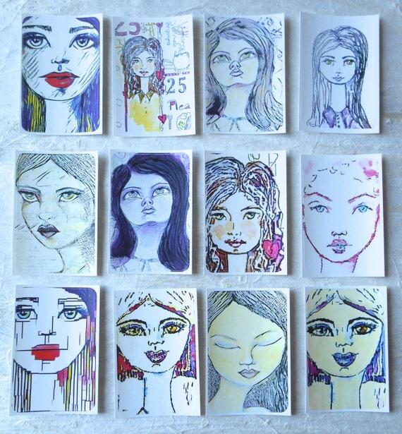 Girls Mixed 1 - Large Fine Art Stickers