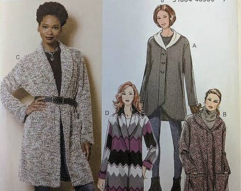 B6251, McCall's, Sewing Pattern, Cardigan Pattern, Sweater Pattern, Jacket Pattern, SizesL-XXL