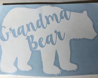 Grandma Bear Adhesive Decal
