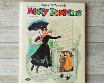 The Magic of Mary Poppins   Walt Disney   Whitman   Vintage Children's Book   1964   Hardcover