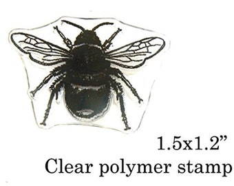 P96 Crystal Clear Bee Rubber Stamp