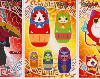 Set of 3 Yo-kai Watch Sticker Sheets - Reference A3205-07