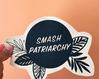 Smash Patriarchy canvas patch