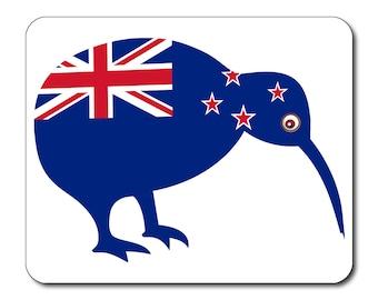 New Zealand Flag Kiwi Mouse Mat Mouse Pad