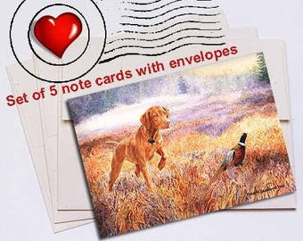 Foggy Bottom Vizsla Note Card Set
