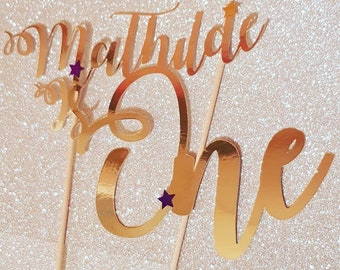 Personalised foil cake topper