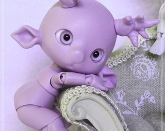 Tiny BJD, Fëadoll, Mimü deer purple skin, Pro-cast