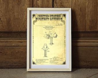 Antique Car, Bounce Ride Patent, Patent Print, Kids Room Decor, Game Patent Toy Patent, Vintage Patent, Game Room Art, Vintage Toy