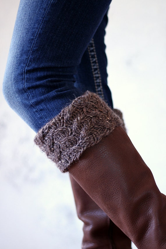 Cable Knit Boot Cuff Knitting Pattern Be BRAVE a set of