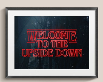 Stranger Things Poster | Stranger Things Print | Stranger Things Art Upside Down Wall Decor | Stranger Things Gift | Stranger Things Picture