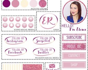 Custom graphics Blog/site-Branding Kit