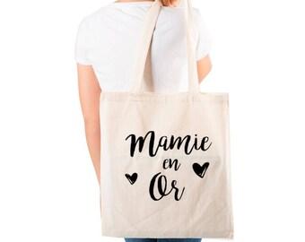 Grandma gold tote bag