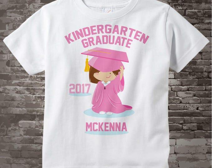 Personalized Kindergarten Graduate Shirt, Child's Back To School Shirt 05022013c