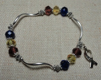 150 Bladder Cancer Awareness Bracelet