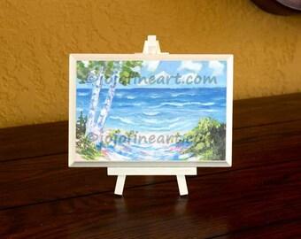 Lake Michigan beach painting original art jojofineart.com